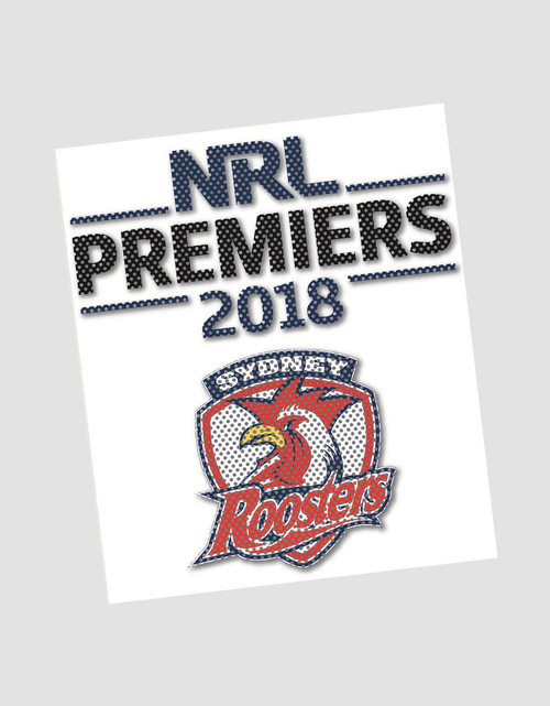 Sydney Roosters 2018 Premiers See-Thru Decal Sticker