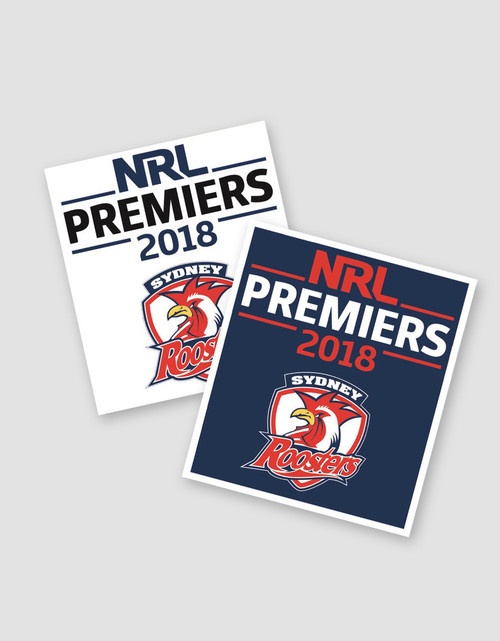 Sydney Roosters 2018 Premiers Mini Decal Stickers