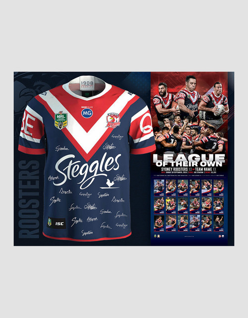 Sydney Roosters 2018 Premiers Signed Framed Jersey
