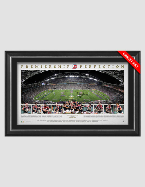Sydney Roosters 2018 Premiers Signed Panoramic Framed