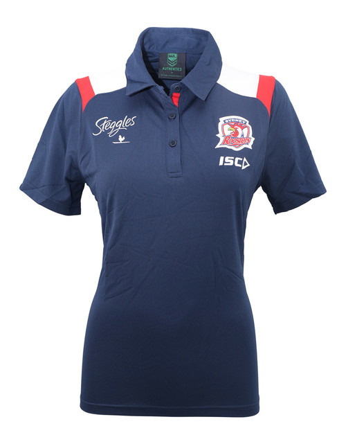 Sydney Roosters 2019 ISC Womens Performance Polo Nvy/Red/Wht