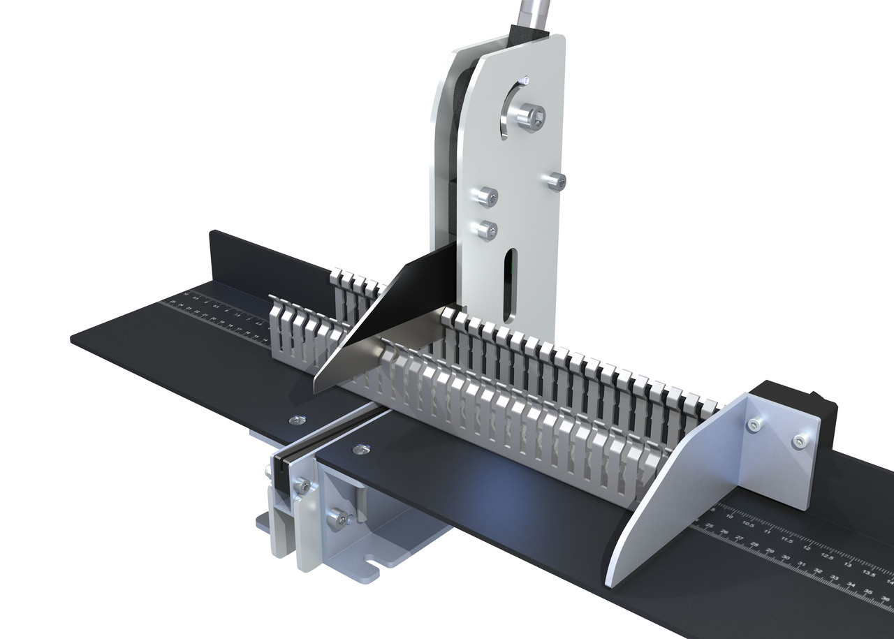 Premium Bench Top Wiring Duct Cutter with Length Stop