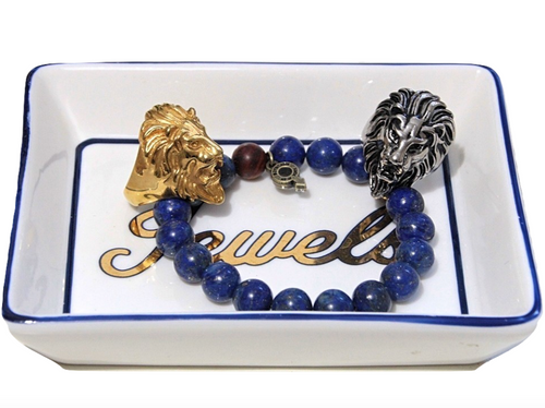 """Braveheart"" BOYBEADS Silver or Gold-plated Leo Lion Head Stainless Steel Ring Mens"