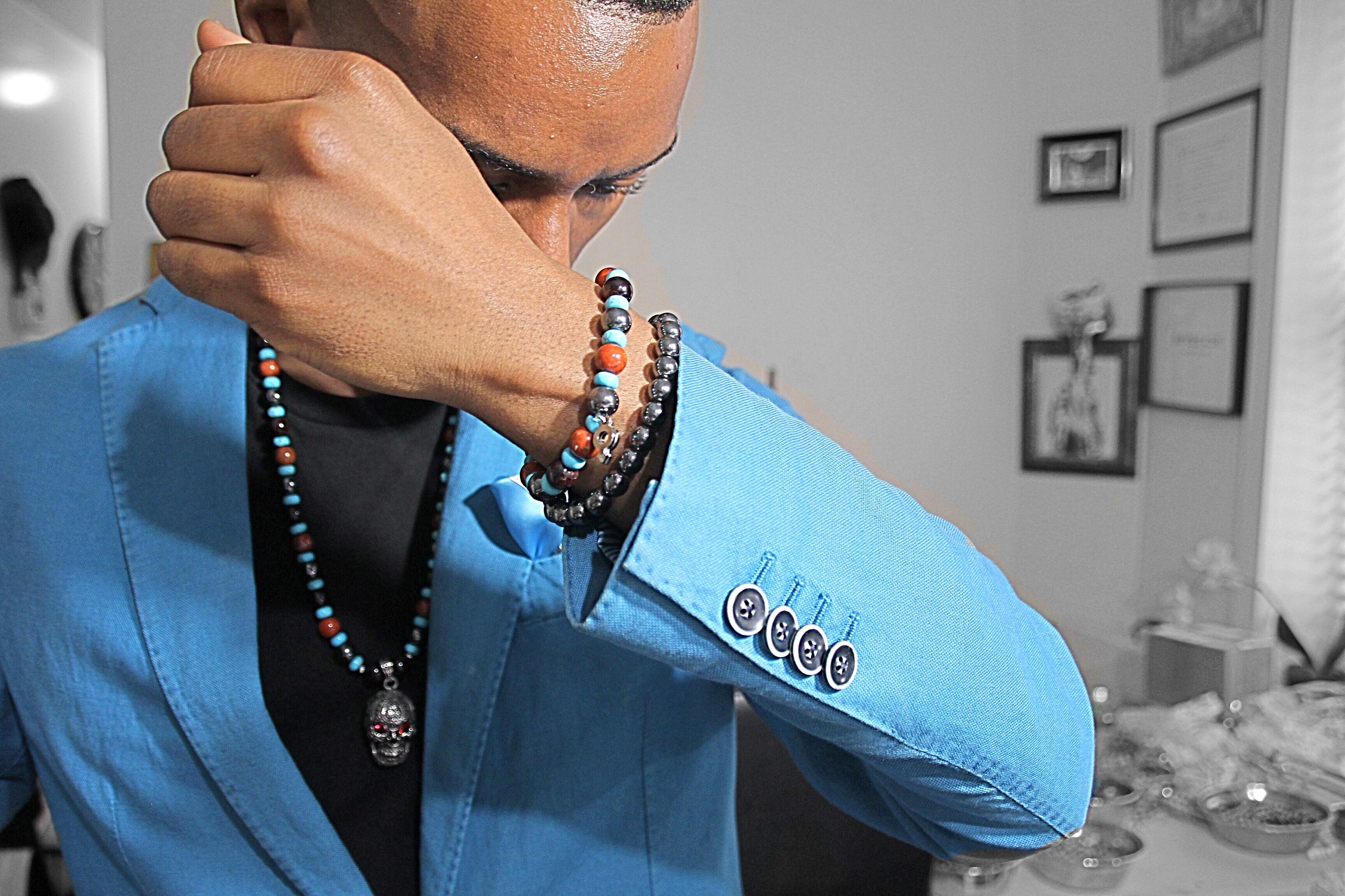 chuck-boybeads-natural-stone-bead-bracelet-for-men-necklaces-turquoise-garnet-hematite-red-jasper-new-york-for-guys-summer-artist-sebastian-mitchell-2011.jpg
