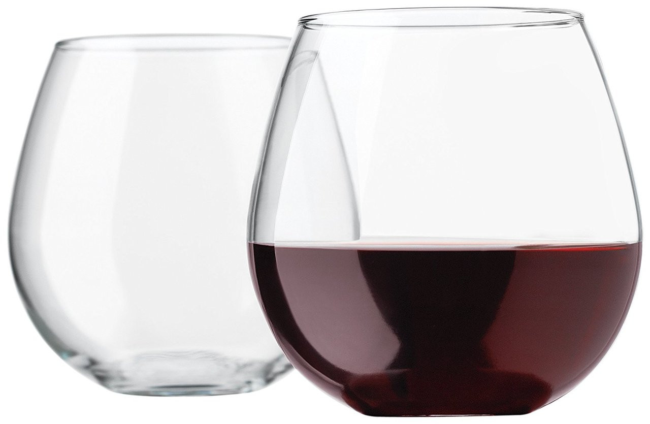 libbey vina stemless 20 ounce clear balloon wine glass set 4 piece our pampered home. Black Bedroom Furniture Sets. Home Design Ideas