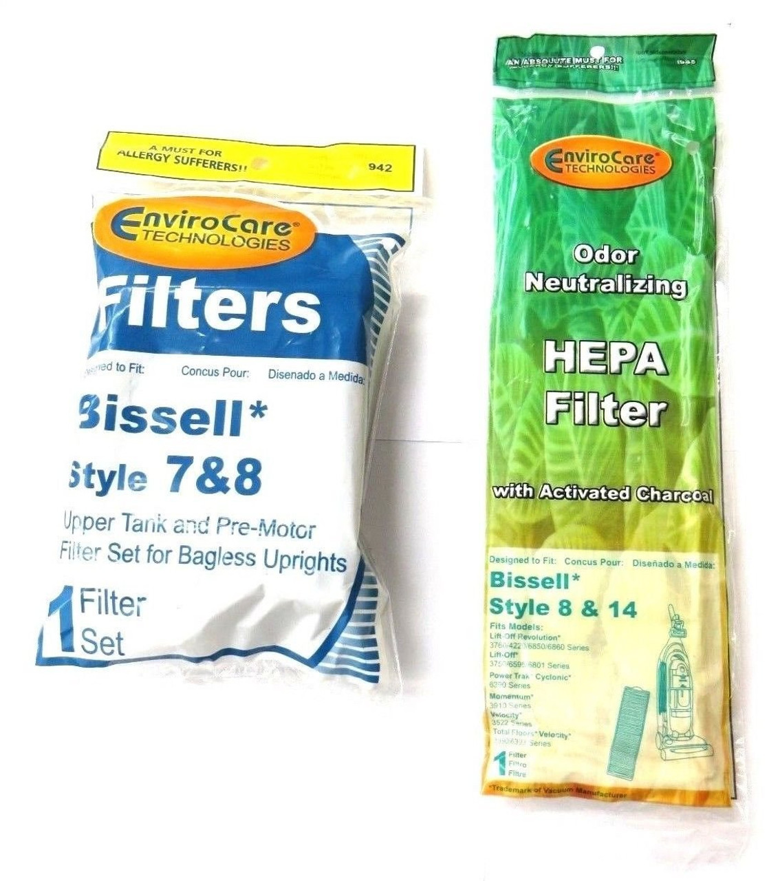 1 Set Bissell Vacuum Style 7 8 14 Foam Filter Kit 3093