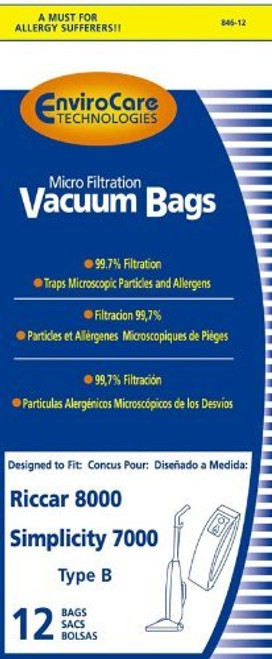 Simplicity Type Quot B Quot 7000 Bags 12 Pack Our Pampered Home