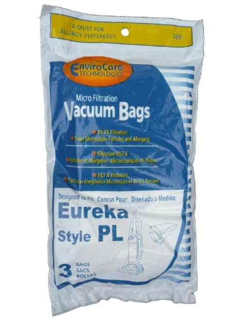 9 Eureka Electrolux Style PL Upright Vacuum Bags, Bagged Uprights, Maxima Vacuum Cleaners, 62389, 62389A, EU-62389, 6238