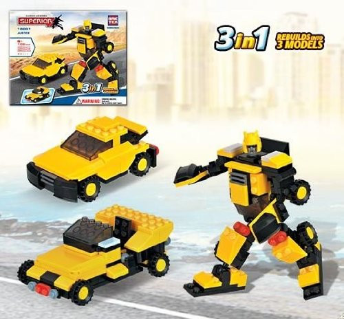 Brictek Heroes 3 in 1 Justice Building Kit