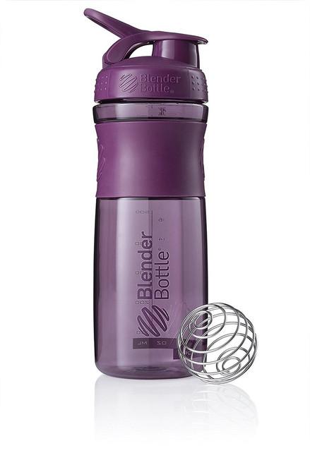 BlenderBottle SportMixer Tritan Grip Shaker Bottle, Plum/Plum , 28-Ounce