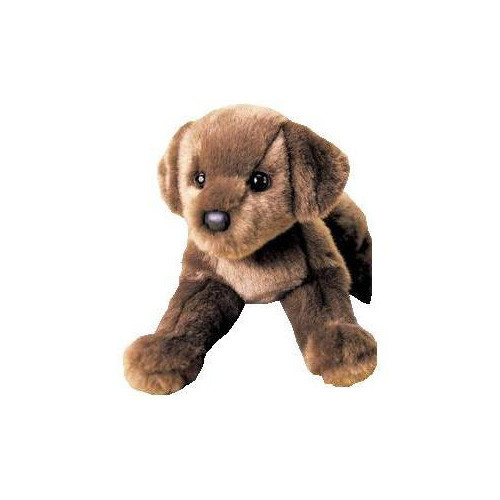 Plush CC Bean Chocolate Lab 12""