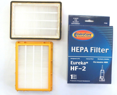 (2) Eureka HF2 Hepa Pleated Filter HF-2 Eureka Upright Ultra Smart, Boss, Omega, UltraSmart Vac Cyclonic, Whirlwind Vacu