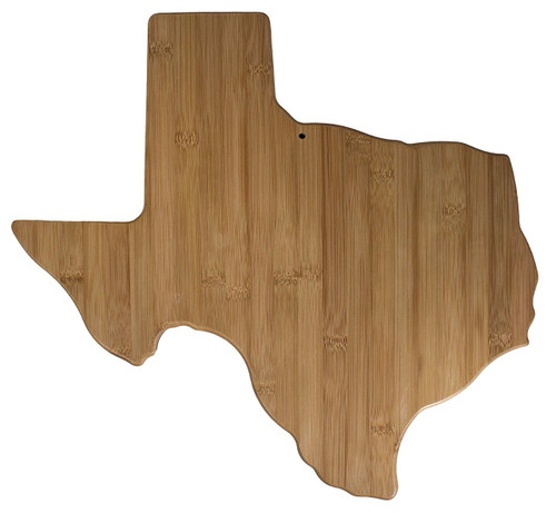 Totally Bamboo Mega State Cutting and Serving Board, Texas, Extra Large for Entertaining a Crowd, 100% Bamboo Board for
