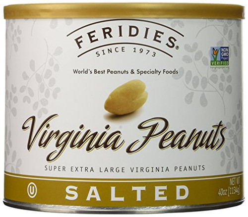 4 Pack-40oz Can Salted Virginia Peanuts