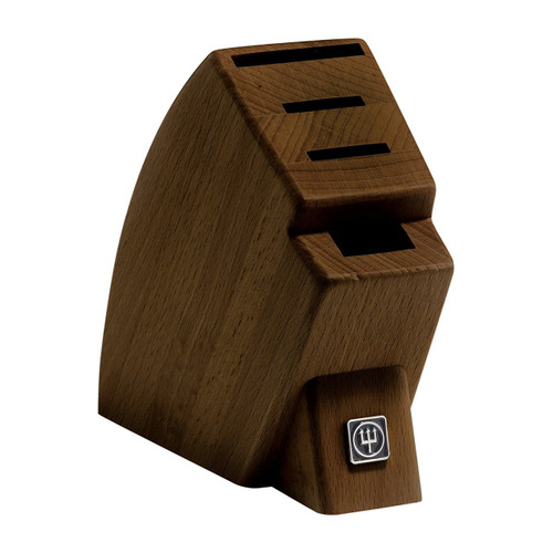 4-Slot Mobile Walnut Knife Block