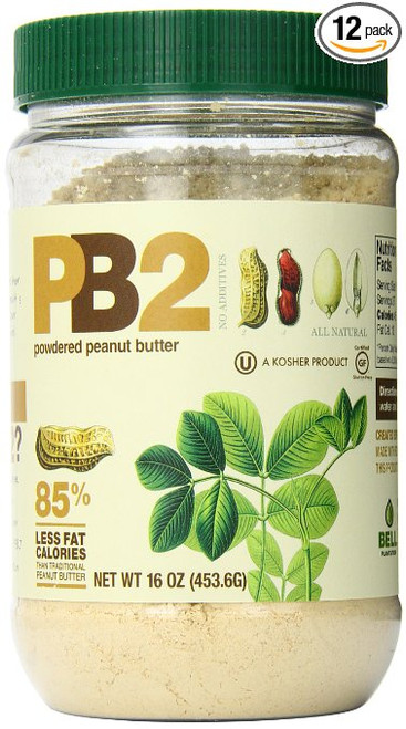 Bell Plantation Powdered Peanut Butter, 16 Ounce (Pack of 12)