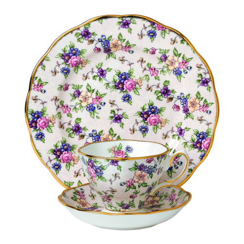 "Royal Albert 3 Piece 100 Years 1940 Teacup, Saucer & Plate Set, 8"", Multicolor"