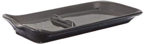 Emile Henry Charcoal Ridged Spoon Rest