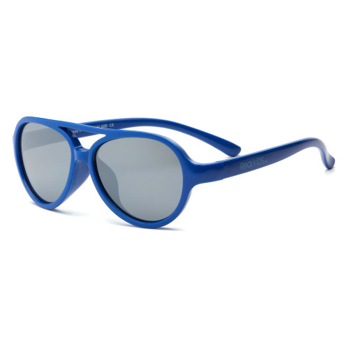 Real Kids Shades Aviator Flex Fit Silver Mirror Kid 4+ Lens, Royal