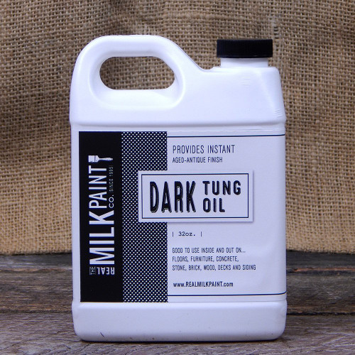Real Milk Paint Dark Raw Tung Oil - 32 oz.