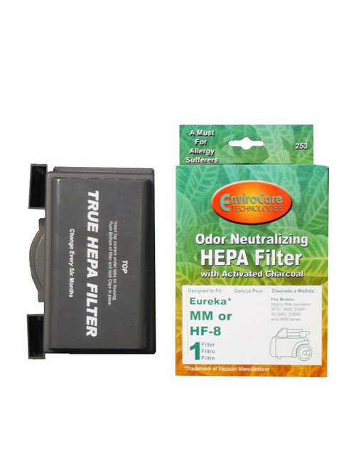 (1) Eureka Sanitaire w/activated Charcoal MM Mighty Mite HEPA HF8 Vacuum Filter, Mighty Mite, Pet Lover, Sanitaire Comme