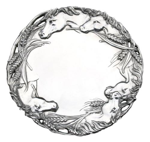 Arthur Court 12-Inch Round Horse Tray