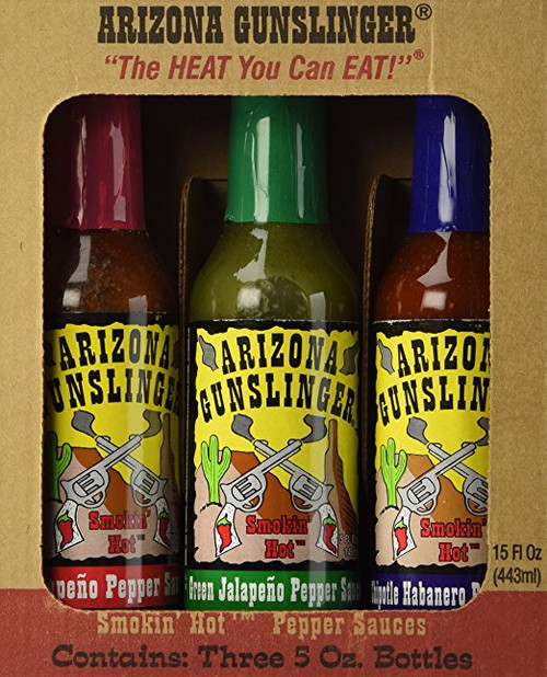 Arizona Gunslinger Hot Sauce - 3 Variety Gift Pack (15 Oz)