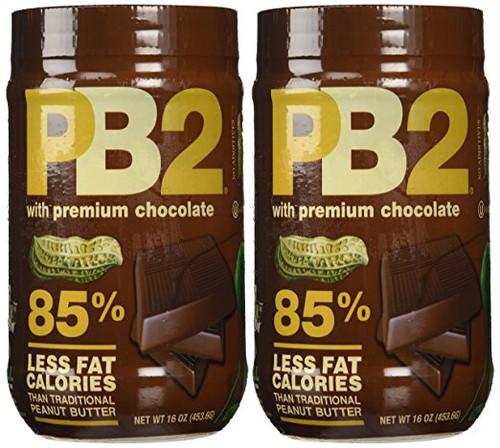 Bell Plantation PB2 Chocolate Peanut Butter, 1 lb Jar (2-pack)