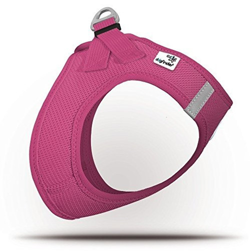 Curli Summer Air-Mesh Vest Harness with DogFinder ID (Magenta, XL)