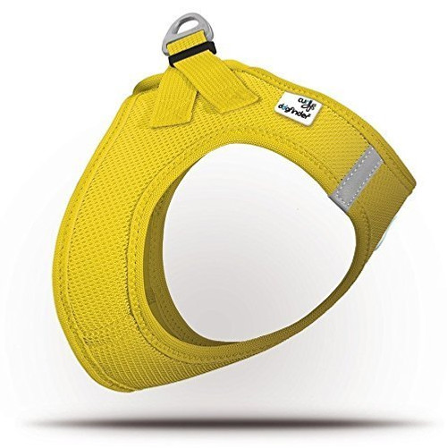 Curli Summer Air-Mesh Vest Harness with DogFinder ID (Yellow, XL)