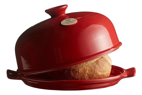 "Emile Henry Flame Bread Cloche, 13.2 x 11.2"", Burgundy"