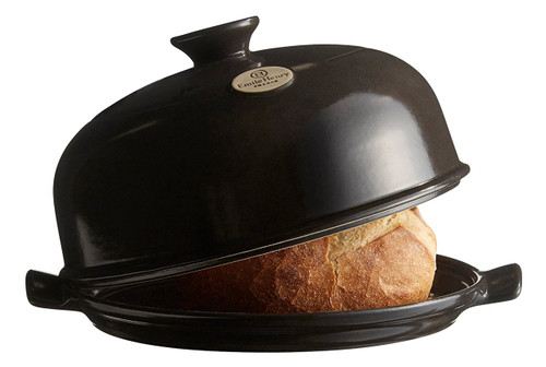 "Emile Henry Flame Bread Cloche, 13.2 x 11.2"", Charcoal"