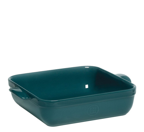 Emile Henry 10 by 10-Inch Square Baker, Blue Flame