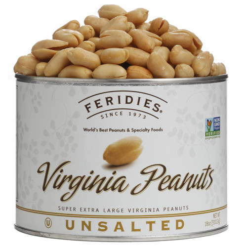 18 oz Can Unsalted Virginia Peanuts