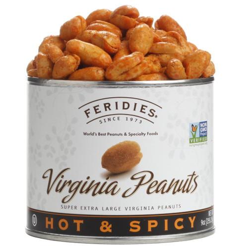 9oz Can Hot & Spicy Virginia Peanuts