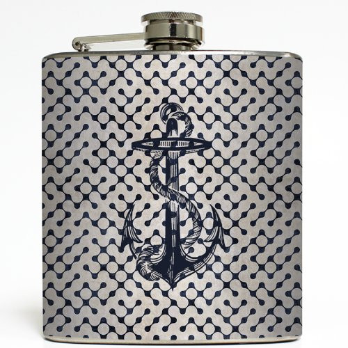 Anchors Aweigh - Liquid Courage Flasks - 6 oz. Stainless Steel Flask