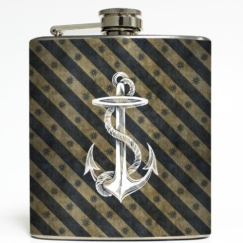 Full Speed Ahead! - Liquid Courage Flasks - 6 oz. Stainless Steel Flask