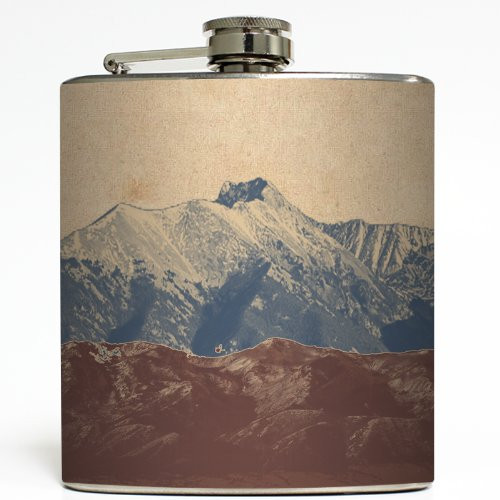 Rocky Mountain High - Liquid Courage Flasks - 6 oz. Stainless Steel Flask