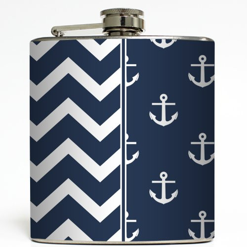 High Tide - Liquid Courage Flasks - 6 oz. Stainless Steel Flask