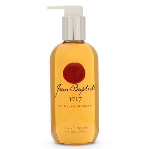 Jean Baptiste New Orleans Niven Morgan 1717 9.5oz Hand Soap, soothing, moisturizing aloe vera, the purest glycerin and invigorating white tea