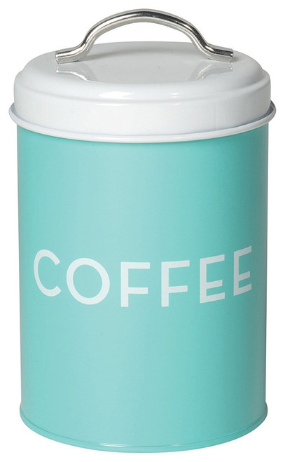 Now Designs Coffee Tin, Turquoise