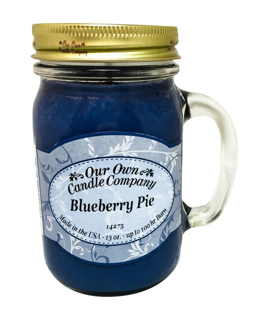 Blueberry Pie Scented 13 Ounce Mason Jar Candle By Our Own Candle