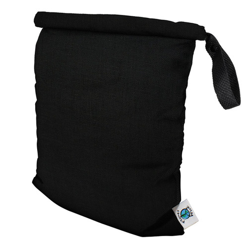Planet Wise Roll Down Wet Diaper Bag, Black, Medium