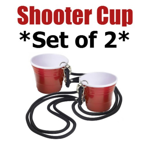 The Icon Red Cup Shooter (2oz.) with Lanyard (Set of 2)