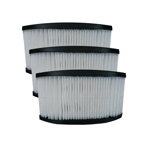 (3) 40130050 Hoover Fold Away Turbo Power 3100 HEPA Pleated filter, Upright, Bageless, Widepath Vacuum Cleaners, 43615090, U5172900, U5175900,