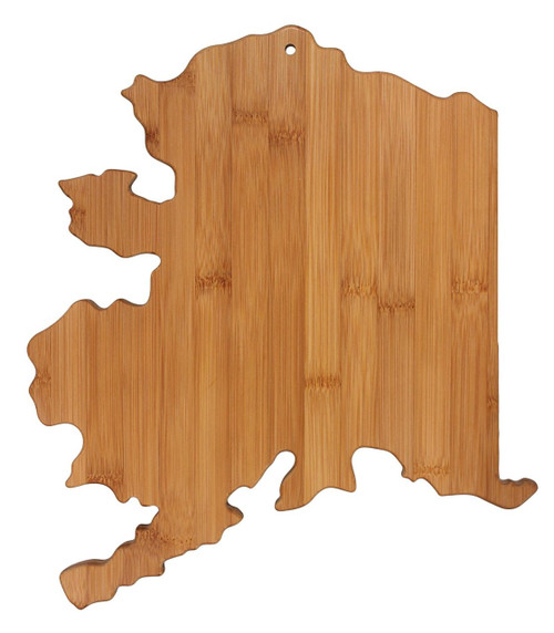 Totally Bamboo State Cutting & Serving Board, Alaska, 100% Bamboo Board for Cooking and Entertaining