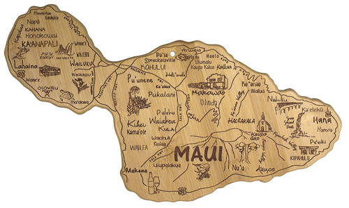 Totally Bamboo Destination State Serving Board, Maui, 100% Bamboo Board for Serving Food and Entertaining