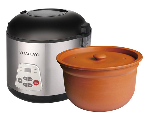 Pampered Chef Cake Recipe In Rice Cooker: VitaClay VF7700-6 Chef Gourmet 6-Cup Rice And Slow Cooker