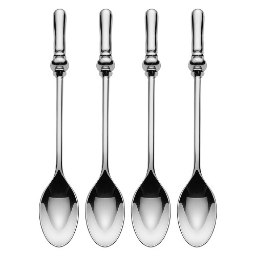 "Alessi ""Dressed"" Set Of Four Tea Spoons in 18/10 Stainless Steel Mirror Polished, Silver"