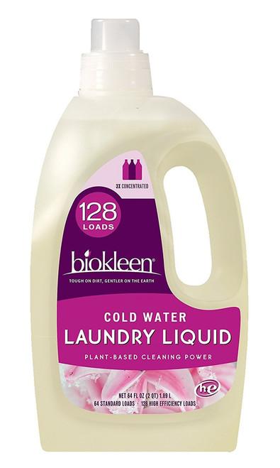Biokleen Laundry Liquid, Cold Water, 64 Ounces